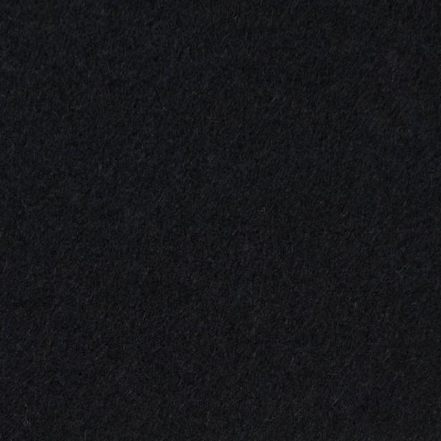 ウール&アンゴラ混×無地(ブラック)×フラノ(フランネル) イメージ1