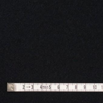 ウール&アンゴラ混×無地(ブラック)×フラノ(フランネル) サムネイル4