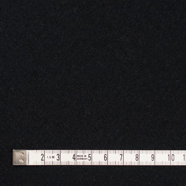 ウール&アンゴラ混×無地(ブラック)×フラノ(フランネル) イメージ4