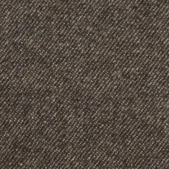 ウール&ポリウレタン×無地(ブラウンミックス)×サージストレッチ