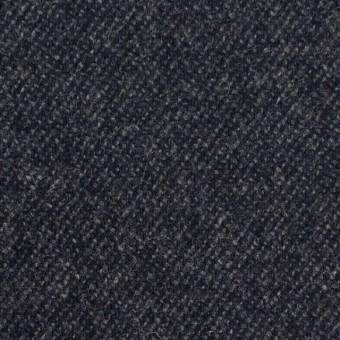 ウール&ナイロン混×無地(チャコールブラック)×サキソニーストレッチ