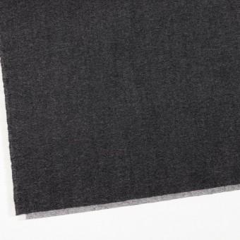 ウール&コットン混×無地(チャコールブラック)×ビエラストレッチ サムネイル2