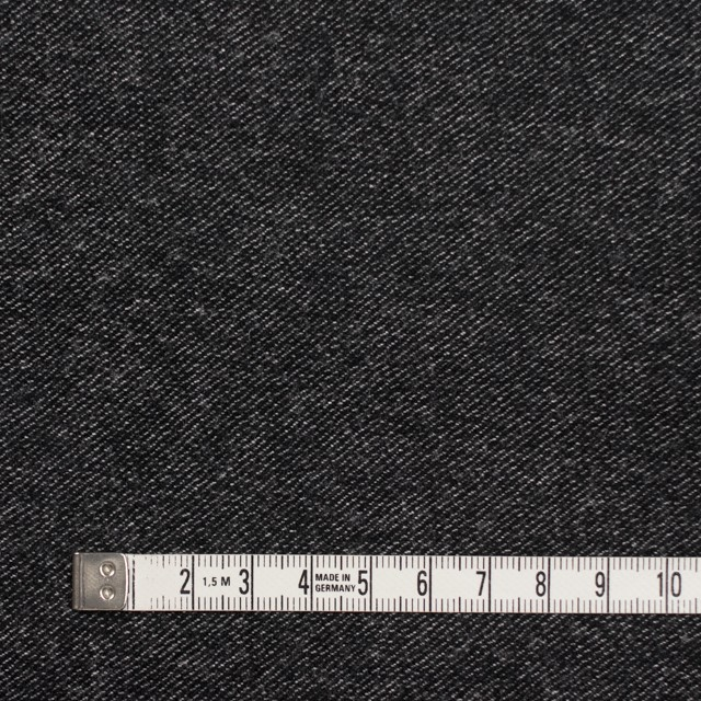 ウール&コットン混×無地(チャコールブラック)×ビエラストレッチ イメージ4