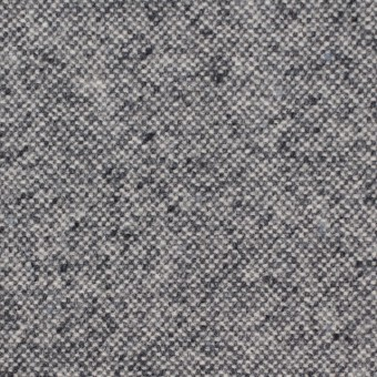 ウール&ポリエステル混×無地(チャコールグレー)×ツイードストレッチ