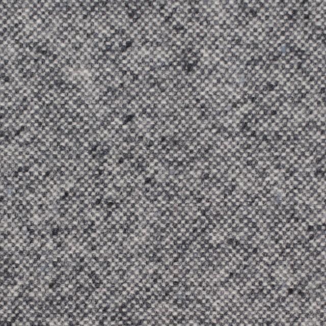 ウール&ポリエステル混×無地(チャコールグレー)×ツイードストレッチ イメージ1