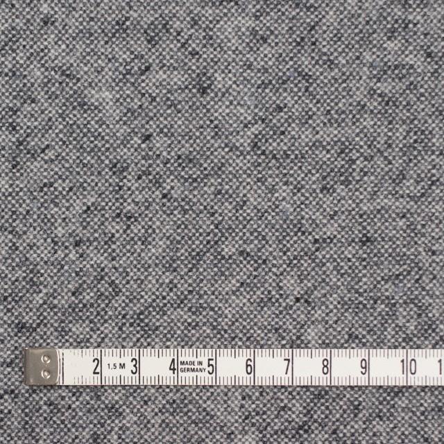 ウール&ポリエステル混×無地(チャコールグレー)×ツイードストレッチ イメージ4