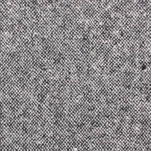 ウール&ポリエステル混×無地(チャコールグレー)×ツイード イメージ1