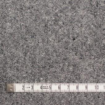 ウール&ポリエステル混×無地(チャコールグレー)×ツイード サムネイル4