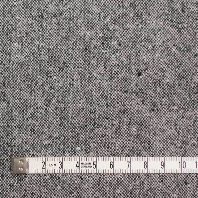 ウール&ポリエステル混×無地(チャコールグレー)×ツイード イメージ4