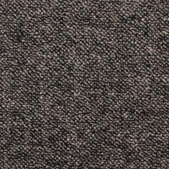 ウール&ポリエステル混×ミックス(キナリ&ブラック)×ツイードストレッチ サムネイル1