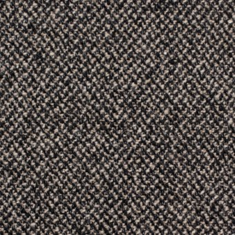 ウール&コットン混×ミックス(キナリ&ブラック)×ツイード