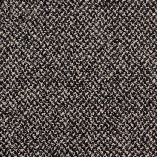 ウール&コットン混×ミックス(キナリ&ブラック)×ツイード イメージ1