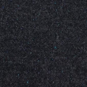 ウール&ナイロン混×無地(チャコールブラック)×ツイードストレッチ サムネイル1