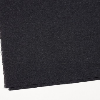 ウール&ナイロン混×無地(チャコールブラック)×ツイードストレッチ サムネイル2