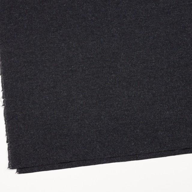 ウール&ナイロン混×無地(チャコールブラック)×ツイードストレッチ イメージ2