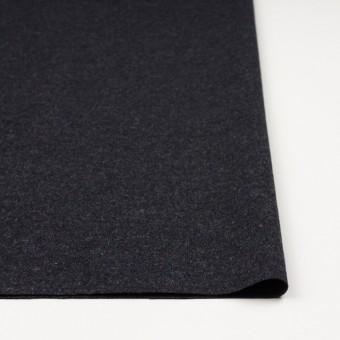ウール&ナイロン混×無地(チャコールブラック)×ツイードストレッチ サムネイル3