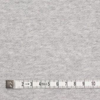 コットン×無地(グレー)×裏毛ニット(裏面起毛) サムネイル4