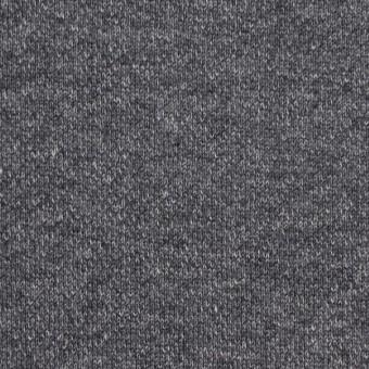 コットン×無地(チャコールグレー)×裏毛ニット(裏面起毛) サムネイル1