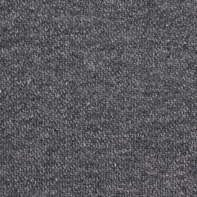 コットン×無地(チャコールグレー)×裏毛ニット(裏面起毛) イメージ1