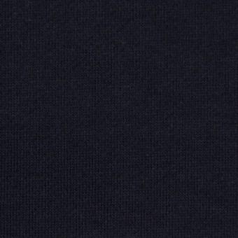 コットン×無地(ダークネイビー)×裏毛ニット(裏面起毛) サムネイル1