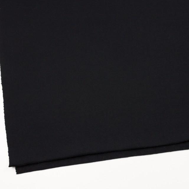 コットン×無地(ブラック)×裏毛ニット(裏面起毛) イメージ2
