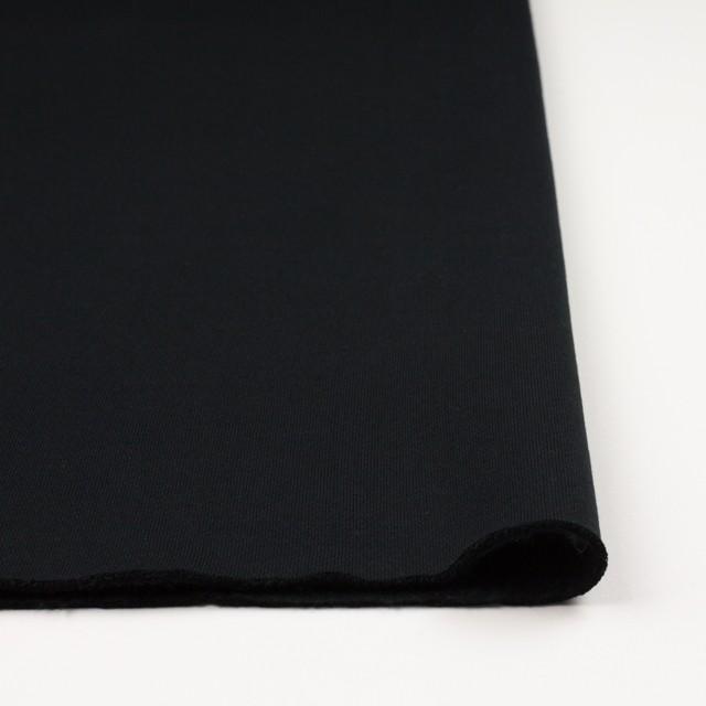 コットン×無地(ブラック)×裏毛ニット(裏面起毛) イメージ3