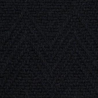 ウール&ポリエステル×幾何学模様(ブラック)×ジャガード_パネル