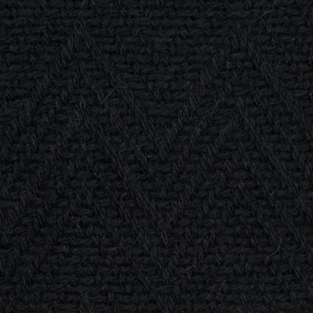 ウール&ポリエステル×幾何学模様(ブラック)×ジャガード_パネル イメージ1