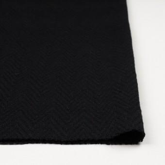ウール&ポリエステル×幾何学模様(ブラック)×ジャガード_パネル サムネイル3
