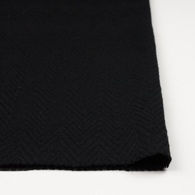 ウール&ポリエステル×幾何学模様(ブラック)×ジャガード_パネル イメージ3