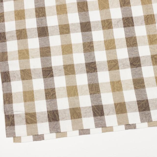 コットン×チェック(ブラウンミックス)×ビエラワッシャー イメージ2