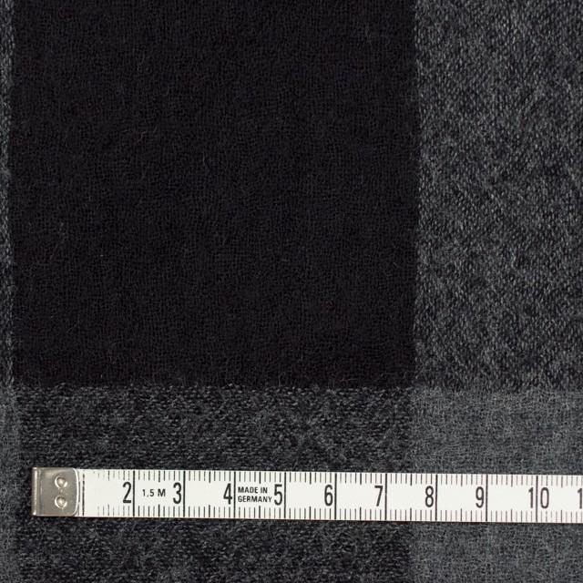 ウール×チェック(チャコールグレー&ブラック)×ガーゼ イメージ4