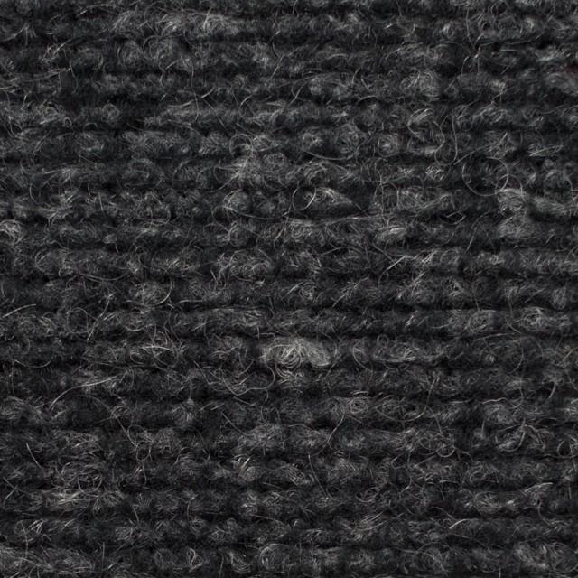 ウール&ポリエステル混×無地(チャコールグレー)×ループニット イメージ1