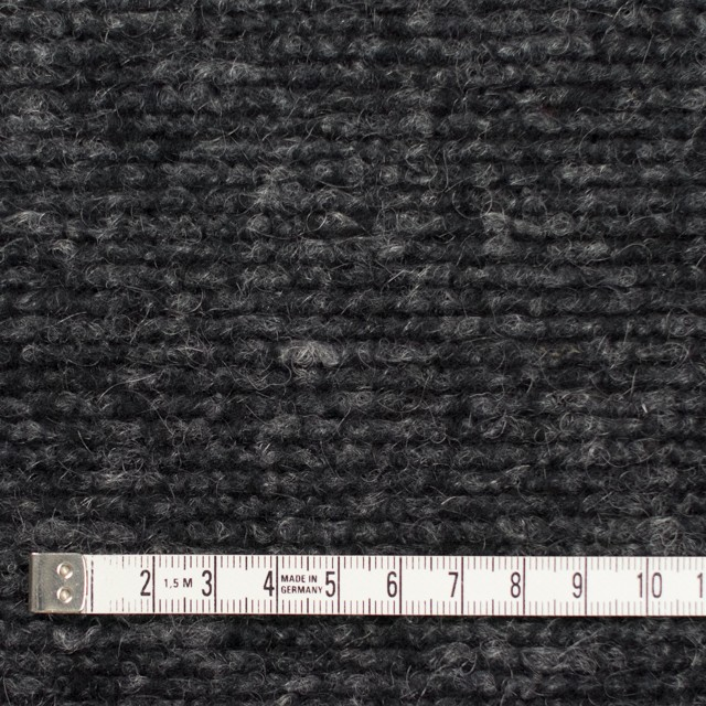 ウール&ポリエステル混×無地(チャコールグレー)×ループニット イメージ4