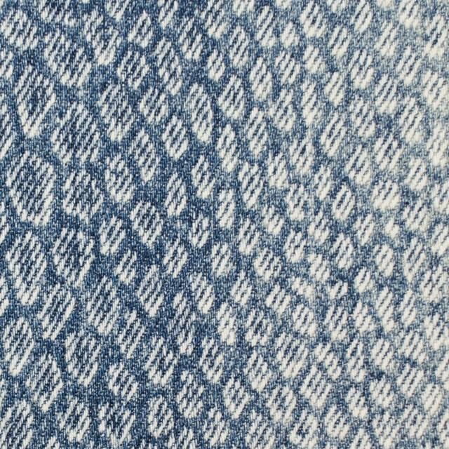 コットン×スネーク(ブルー)×デニム イメージ1