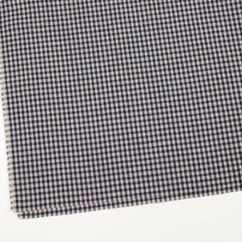 リネン×チェック(グレイッシュベージュ&ネイビー)×薄キャンバス サムネイル2