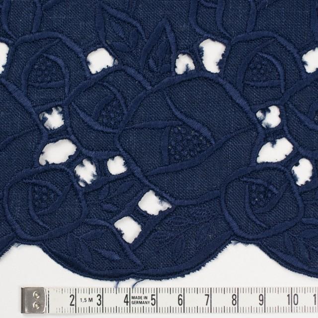 リネン×フラワー(ネイビー)×薄キャンバス刺繍_全2色 イメージ4