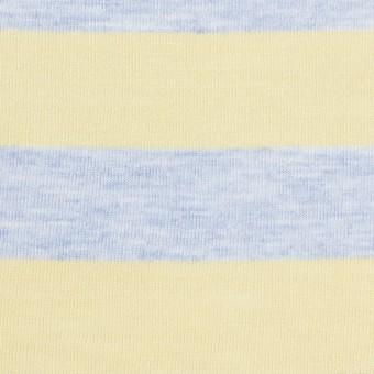 コットン&モダール×ボーダー(イエロー&サックス)×天竺ニット_全3色