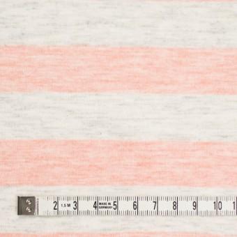 コットン&モダール×ボーダー(サーモンピンク&杢グレー)×天竺ニット_全3色 サムネイル4