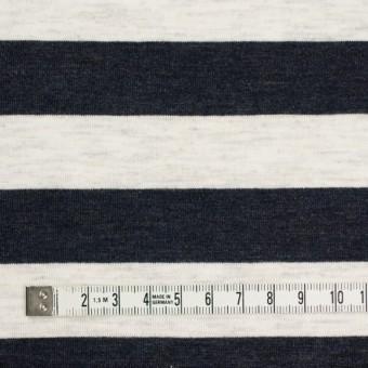コットン&モダール×ボーダー(ダークネイビー&杢グレー)×天竺ニット_全3色 サムネイル4