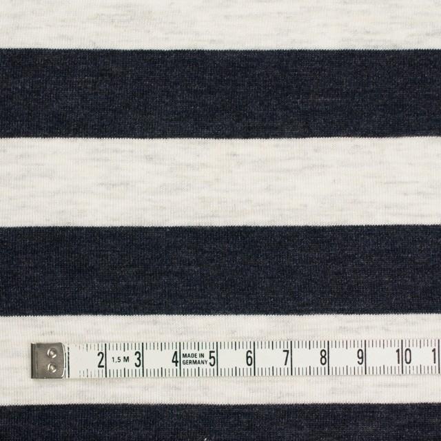 コットン&モダール×ボーダー(ダークネイビー&杢グレー)×天竺ニット_全3色 イメージ4