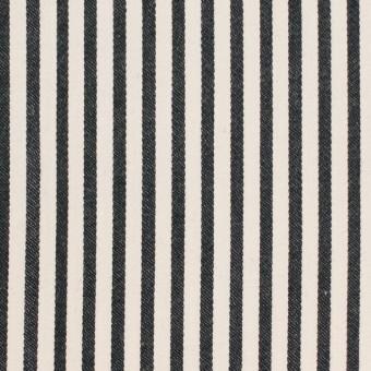 コットン×ストライプ(キナリ&ブラック)×サテン サムネイル1