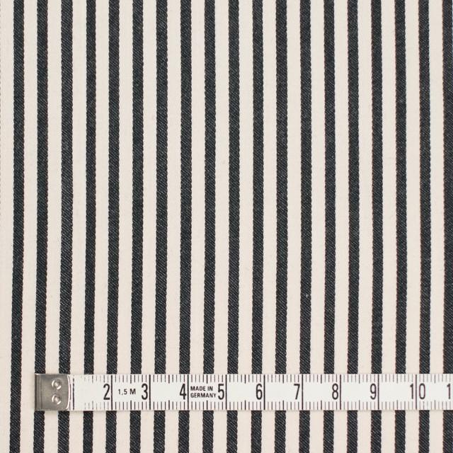 コットン×ストライプ(キナリ&ブラック)×サテン イメージ4