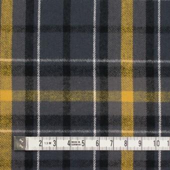 コットン×チェック(イエロー&グレー)×ビエラ_全3柄 サムネイル4