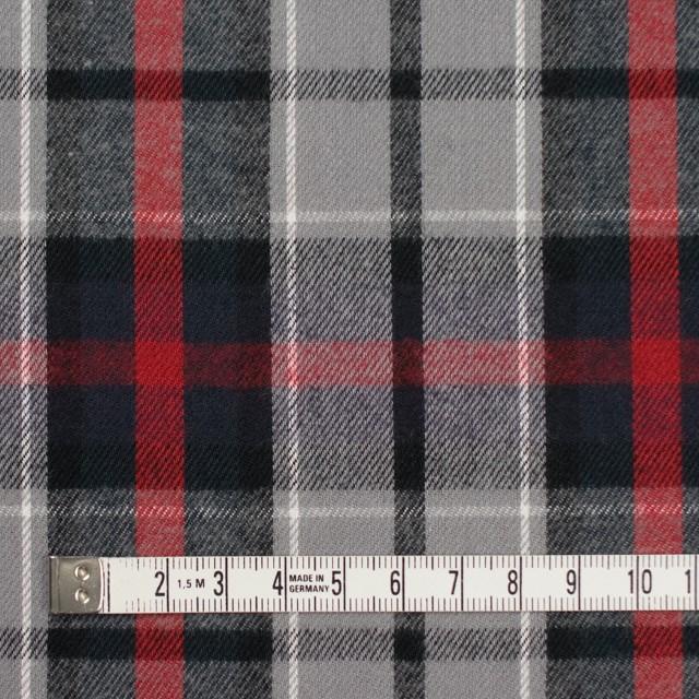 コットン×チェック(レッド&グレー)×ビエラ_全3柄 イメージ4