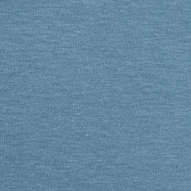コットン&ポリウレタン×無地(サックスグレー)×裏毛ニット イメージ1