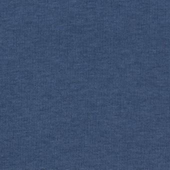 コットン&ポリウレタン×無地(ブルーグレー)×裏毛ニット