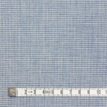 リネン&コットン×チェック(サックス)×千鳥格子_全2色 サムネイル4