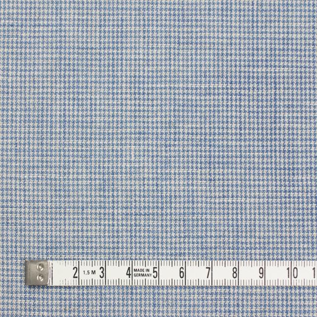 リネン&コットン×チェック(サックス)×千鳥格子_全2色 イメージ4