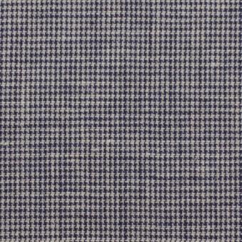 リネン&コットン×チェック(ネイビー)×千鳥格子_全2色 サムネイル1